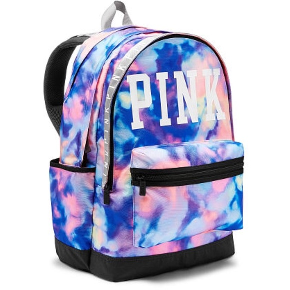 0129186238 Victoria s Secret PINK Tie Dye Campus Backpack